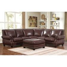 palisades 100 top grain leather sectional and ottoman sam s club