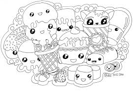 Cute Kawaii Food Coloring Pages Download Fresh
