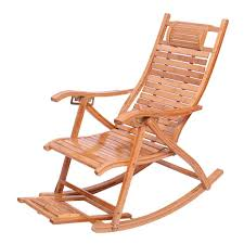 XITER Bamboo Rocking Chair Adjustable Lounge Chair ... Surprising Oversized White Rocking Chair Decorating Baby Outdoor Polywood Jefferson 3 Pc Recycled Plastic Rocker 10 Best Chairs Womans World Presidential Black 3piece Patio Set Hanover Allweather Pineapple Cay Porch Good Looking Gripper Cushions Ding Room Xiter Bamboo Adjustable Lounge Leisure Iron Alloy Waterproof Belt Parryville Classic Wicker Wood