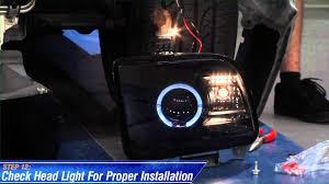 mustang raxiom smoked projector headlights ccfl halo 05 09 gt