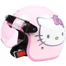 Fashion Halley EVO Half Helmetelectric Bicycle Open Face HelmetsPink Hello KittyMotorcycle Helmetsafe Approved In Helmets From Automobiles Motorcycles