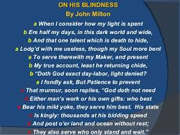 His Blindness