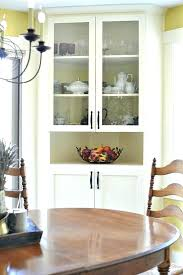 White Corner Cabinet Dining Room Built In China Plans Hutch For