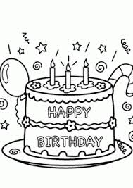 Cake Happy Birthday Party Coloring Pages Celebration For Kids Printables