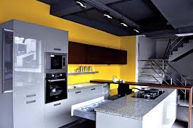 PU Lacquered Vaneer Modular Kitchens