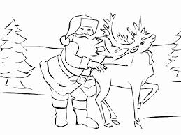 Santa Reindeer Coloring Pages