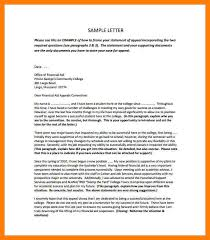 2 financial aid appeal letter examples