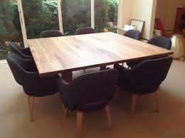 Furniture Custom DIY Square Dining Room Table Seats 8 With Black Chairs Ideas