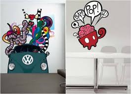 stickers muraux chambre fille ado decoration pour chambre d ado fille 10 stickers muraux graffiti