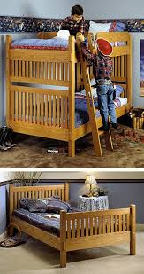 arts and crafts bunk bed woodworking plan from wood magazine