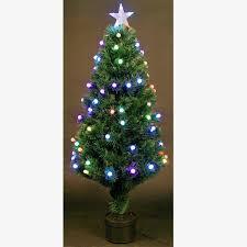 4ft Christmas Tree Fiber Optic Pre Lit Xmas With Berry LED Lights