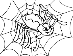 Happy Spider Coloring Page Cute Spider Pinterest