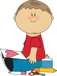 Boy Drawing a Valentine Picture Clip Art Boy Drawing a Valentine