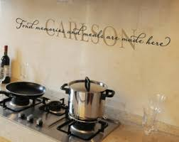 Family Name Fond Memories And Meals Are Made Here Personalized Vinyl Wall Decal Kitchen Quote