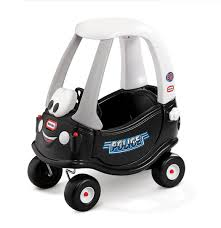 Little Tikes Cozy Coupe Classic Patrol Police Black Smiley Face Push ...
