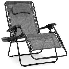 BestChoiceProducts: Best Choice Products Oversized Zero Gravity Outdoor  Reclining Lounge Patio Chair W/ Cup Holder - Gray | Rakuten.com Phi Villa Outdoor Patio Metal Adjustable Relaxing Recliner Lounge Chair With Cushion Best Value Wicker Recliners The Choice Products Foldable Zero Gravity Rocking Wheadrest Pillow Black Wooden Recling Beach Pool Sun Lounger Buy Loungerwooden Chairwooden Product On Details About 2pc Folding Chairs Yard Khaki Goplus Wutility Tray Beige Headrest Freeport Park Southwold Chaise Yardeen 2 Pack Poolside
