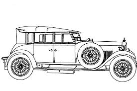 Model T Car Coloring Pages For Kids