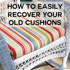 How To Recover Your Outdoor Cushions Quick & Easy - Jennifer ... How To Recover A Glider Rocking Chair Photo Tutorial Cushions Comfort Protection Cushion Covers Fit Diy Butterfly Chair Cover Archives Shelterness Removable Ikea Poang Keep Clean Fniture Dazzling Design Of Sets For Home Diy 4pc Waterproof Stretch Wedding Kitchen Craigslist Deals For Your Babys Room Needle Felted Word Fall To Recover Ding Hgtv 41 Patio Ideas 10 Best Baby Rockers Reviews Of 2019 Net Parents