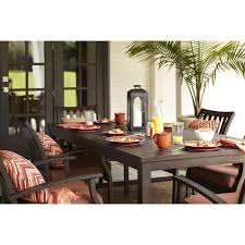Allen And Roth Patio Cushions by Allen Roth Black Patio Furniture Set 3 Aluminum Conversation