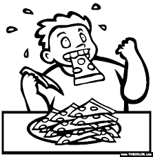 Competitive Eating Coloring Page