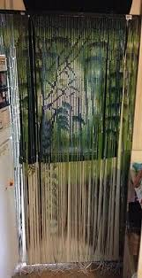 vintage bamboo door curtain bamboo beads pier one 72 x 36