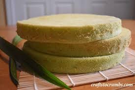 pandan chiffon cake crafts to crumbs