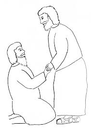 Peter Heals Crippled Man Coloring Page