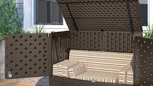 Suncast 50 Gallon Deck Boxstorage Bench by Backyard Storage Box Home Outdoor Decoration