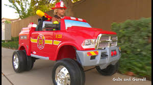100 Power Wheels Fire Truck Kids Unboxing And Review Dodge Ram 3500 Ride On