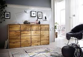 sideboard rustikale wildeiche geölt kommode massivholz
