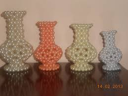 Beads Can Used To Make Various Types Of Crafts Item Above Is The Photograph Pots Made By Bead Different Colours And Shapes
