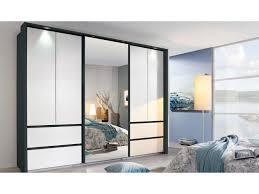 rauch wetzlar drehtürenschrank spiegelschrank grau metallic weiß front inkl beleuchtung 271x210 cm