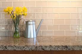 glass subway tile kitchen contemporary with backsplash soda
