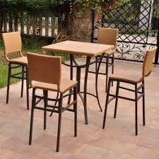 3 Piece Bar Height Patio Bistro Set by Bistro Sets