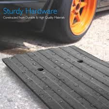 100 Heavy Duty Truck Service Ramps Pyle Car Driveway Adjustable Curb 3 Pack Rubber