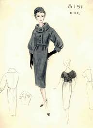 Vintage Chanel Fashion Sketches
