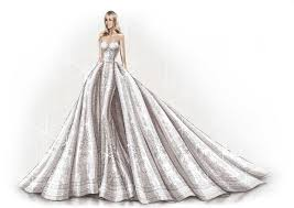 Beautiful Drawing Gown Sketch Contemporary