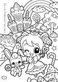 Kawaii Coloring Pages Sweets Cute Sheets