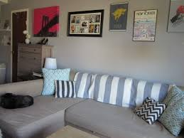 ikea friheten corner sofa bed couch in a small nyc apartment