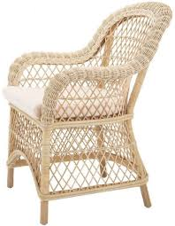 casa padrino luxury rattan dining chair with armrests and cushion 63 x 68 x h 88 cm dining room furniture
