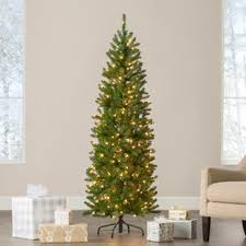 Kingswood Pencil 6 Green Fir Artificial Christmas Tree With 200 Clear Lights