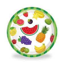 Amazoncom Cieovo 24 Count Disposable Plates Fruit Party