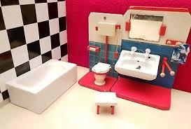 bad waschbecken wc badewanne porzellan holz 50er jahre