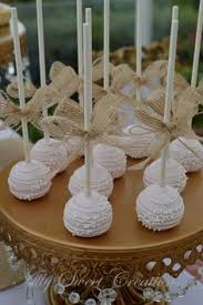 Burlap Bow Pink Cakepops