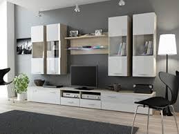 wohnwand i hochglanz wohnzimmer tv wand farbe sonoma eiche weiß hochglanz