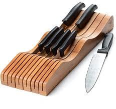 messerblock aus bambus für die schublade für 10 15 messer nicht im lieferumfang enthalten halten sie messerklingen ohne zu zeigen