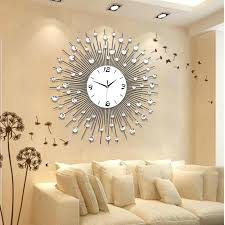 Wall Clock Decoration Contemporary Decorative Clocks For Living Room Fancy Design Ideas