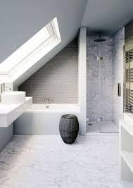 20 simple and small attic bathroom design ideas