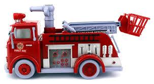 100 Pumper Truck Cartoon Fire Rescue Bubble Blowing Bump Go Battery Operated
