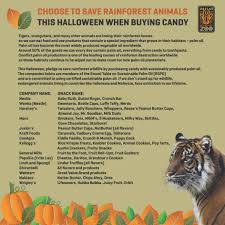 Halloween Candy List by Tigers Dallas Zoohoo